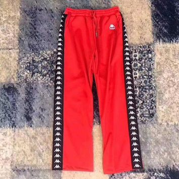 ONETOW Kappa Women Fashion Loose Pants Trousers Sweatpants-3