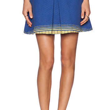 Alice + Olivia Russo Inverted Pleat Skirt in Royal
