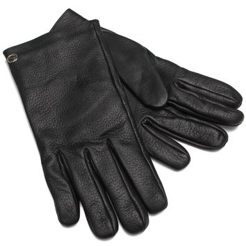 Gucci Riding Gloves Black Leather 353750
