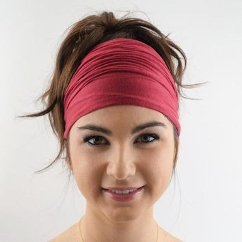 2018 new Ladies cotton Elastic Hairband Head Band Sport Yoga Headband Wrap Neck Head Scarf Cap 2 in 1 Bandana Hair accessories