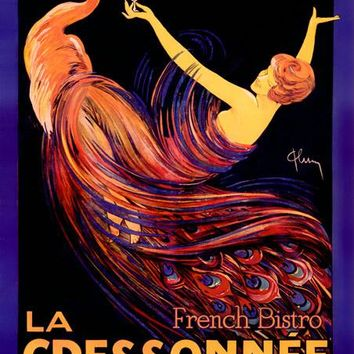 New York La Cressonnee French Bistro Ad Fine Art Print