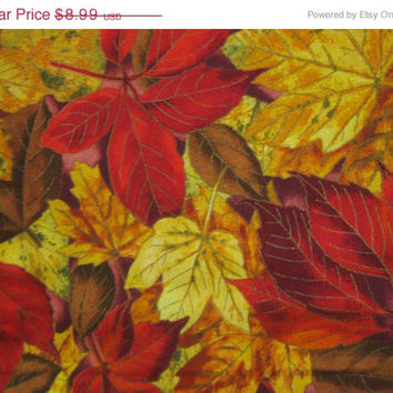 15% Off Sale 1 Yd.Fall Leaves Print Quilt Fabric-V.I.P. Cranston