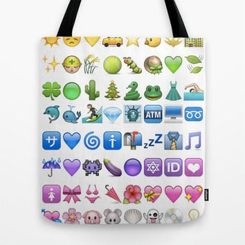 Emoji icons by colors Tote Bag by Gal Raz