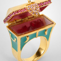 Disney Couture Hidden Treasure Chest Ring