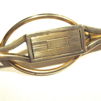 Vintage Swank Tie Clip, Swank Klip patented 714540,Gold Tone B & W Plate Swank Tie Bar, Mens Accessories,For Him,Vintage Man, Formal Jewelry