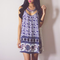 Sun Seeker Swing Dress - Navy