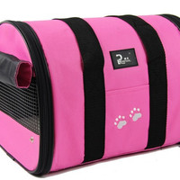 Soft-Sided Pet Travel Carrier for Cat or Dog, 3 Colors and 2 Sizes to Choose From!
