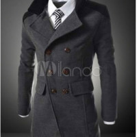 Double-breasted Slim Fit Men's Coat