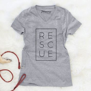 Rescue - Boxed Collection - Women's Modern Fit V-neck Shirt