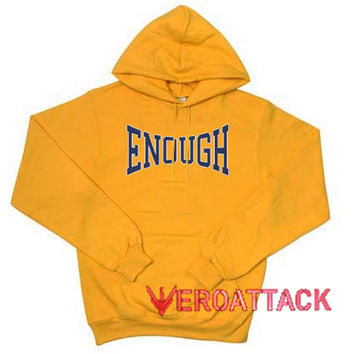 Enough Gold Yellow color Hoodies
