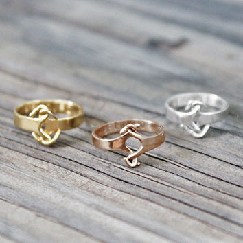 RoseGold plate Finish Sterling Silver Knuckle Ring  - Midi ring or regular ring, custom engrave option
