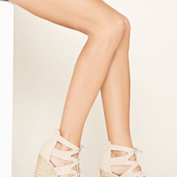 Faux Suede Wedge Sandals | Forever 21 - 2000185530