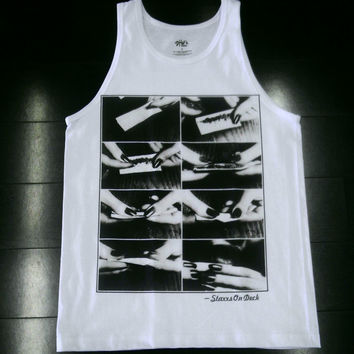 ROLL ONE UP TANK WHITE $22