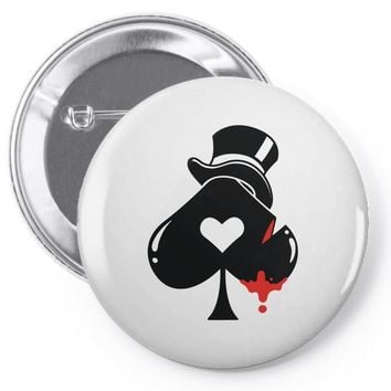 poker hat ace of spades Pin-back button