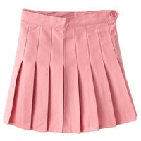 Pink Pleated Mini Skirt - Choies.com