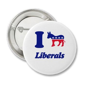 i heart donkey liberals pin from Zazzle.com