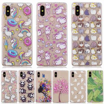 Lovely Cute patterns cat panda bear deer flower tree styles Soft Transparent TPU Phone Case Cover For Xiaomi 8 SE case