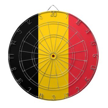 Dartboard with Flag of Belgium
