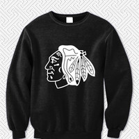 Chicago Blackhawks 623 Sweater Man and Sweater Woman
