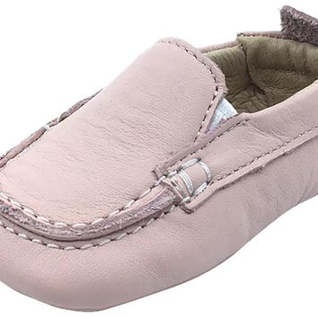 Old Soles Girl's and Boy's Pink Baby Boat Shoes