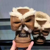 """UGG"" Women male Fashion Wool Snow Boots Brown G"