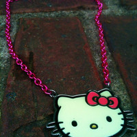 Hello Kitty Pink Chain Necklace