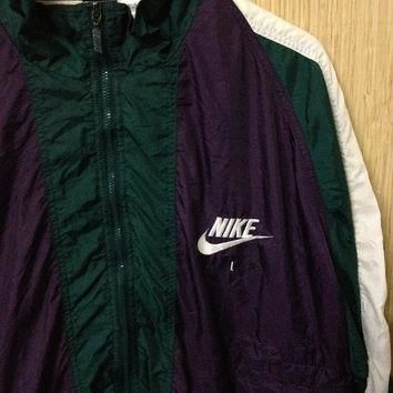 CUT-RATE SALE 30% Vintage 90's Nike Air Nike big logo Zipperd Streetwear Jacket Tricol