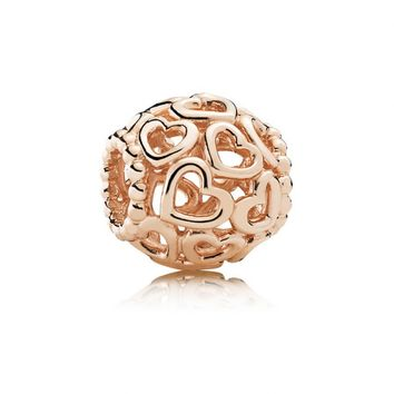 Heartfelt Charm - Rose, Open Your Heart, Heart, Heartfelt, 780964 - Pandora Mall of America, MN