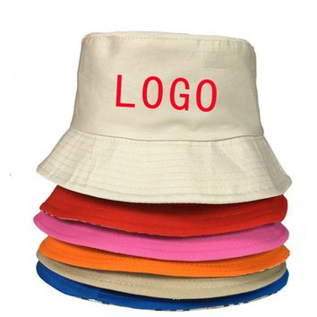 Custom Bucket Hats Small Order 10pcs OEM Embroidered Printed Logo 100% Cotton Good Quality Hat Low MOQ Custom Bucket Cap