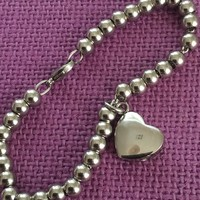 Cremation Jewelry - Urn Bracelet - Memorial Jewrlry - Heart Cremation urn, bead ball chain - high quality stainless steel
