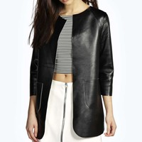 Edna Faux Leather Chucy Jacket