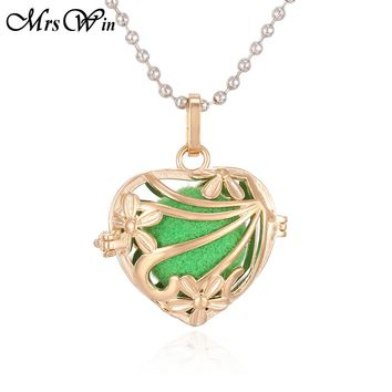 Aroma Diffuser Necklace Gold Love Heart Lockets Pendant Perfume Essential Oil Aromatherapy Locket Necklace With Pads