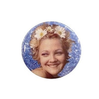 90's Drew Barrymore Button