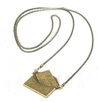 Charmed by Stacy Vintage Love Letter Envelope Necklace
