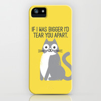 Purrfectly Honest Cat iPhone & iPod Case by David Olenick