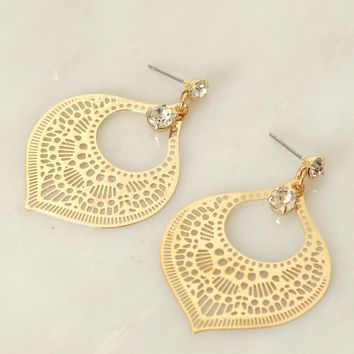 Dangling Diamond Earring Gold