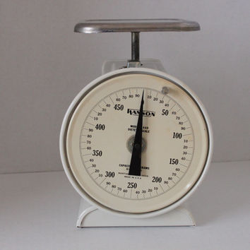 Vintage Antique Hanson Dietetic Gram Scale Kitchen Scale, Works Great