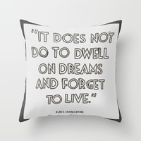 Harry Potter Quote #3 Throw Pillow by Marcela Caraballo