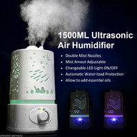 7 Color LED 1.5L Ultrasonic Home Aroma Humidifier Air Diffuser Purifier Lonizer Atomizer