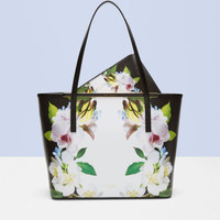 Forget Me Not leather shopper bag - Black | Bags | Ted Baker ROW