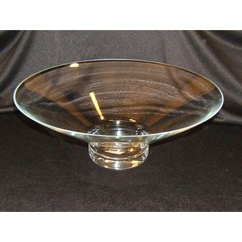 Designer Halo Pedestal Bowl 15in x 5 5/8-in Poland Made 4703000 Glass -- New