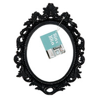 WF OB 8X10 ORNATE OVAL BLK
