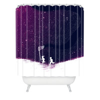 Budi Kwan Starfield Purple Shower Curtain