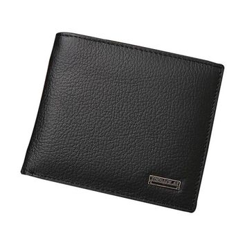 New Men Bifold Business Leather Wallet