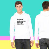 Tumblr, Instagram, Twitter, Youtube_ sweatshirt hoodiee