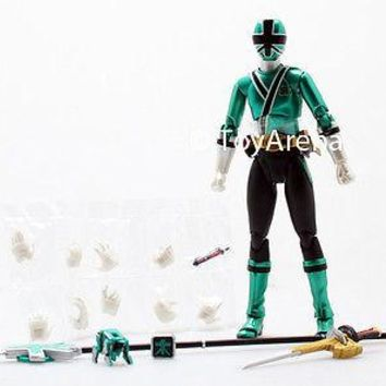 LOOSE Green from S.H. Figuarts Power Rangers Super Samurai Metallic Coating Set