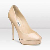 Jimmy Choo | Cosmic | Enamel Patent Leather Round Toe Platform Pumps | JIMMYCHOO.COM