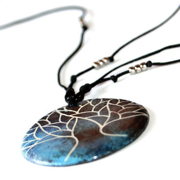 Tree of life necklace, ceramic jewelry for women