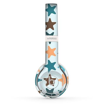 The Vector Colored Starfish V1 Skin Set for the Beats by Dre Solo 2 Wireless Headphones
