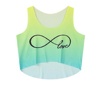 Crop Top Sleeveless Infinity Tank Top = 4823986948